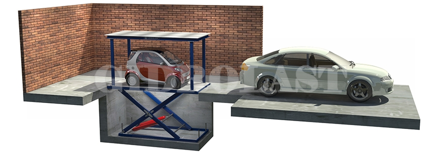 Монтажная схема для подземной парковки мототехники